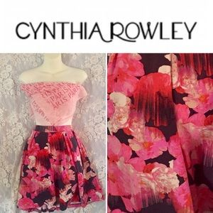 SALE Cynthia Rowley floral skirt